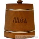 Мёд в подарочном бочонке №4 (темный), вес мёда 1кг